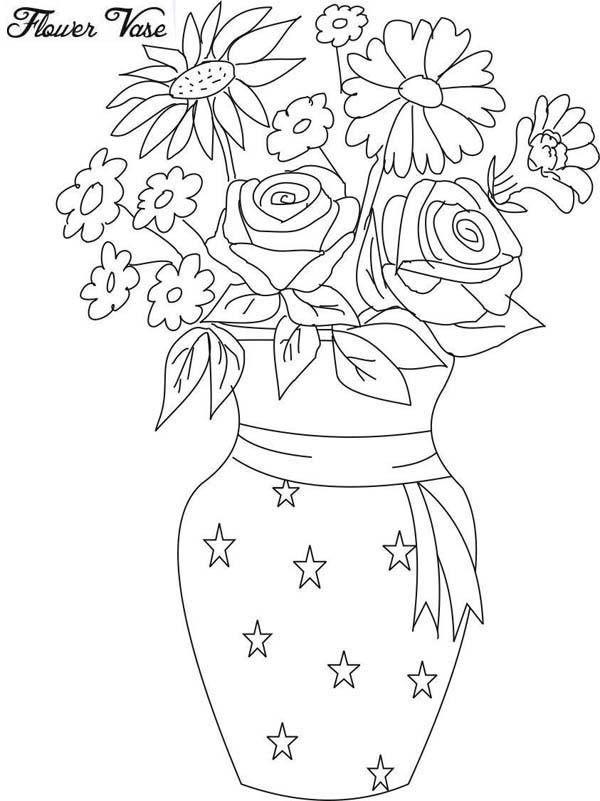 Dibujos para Colorear Floreros 21 | moldes dibujo