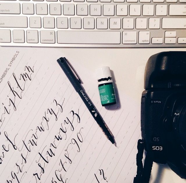 Calligraphy Isn\'t Dead + Free Worksheets