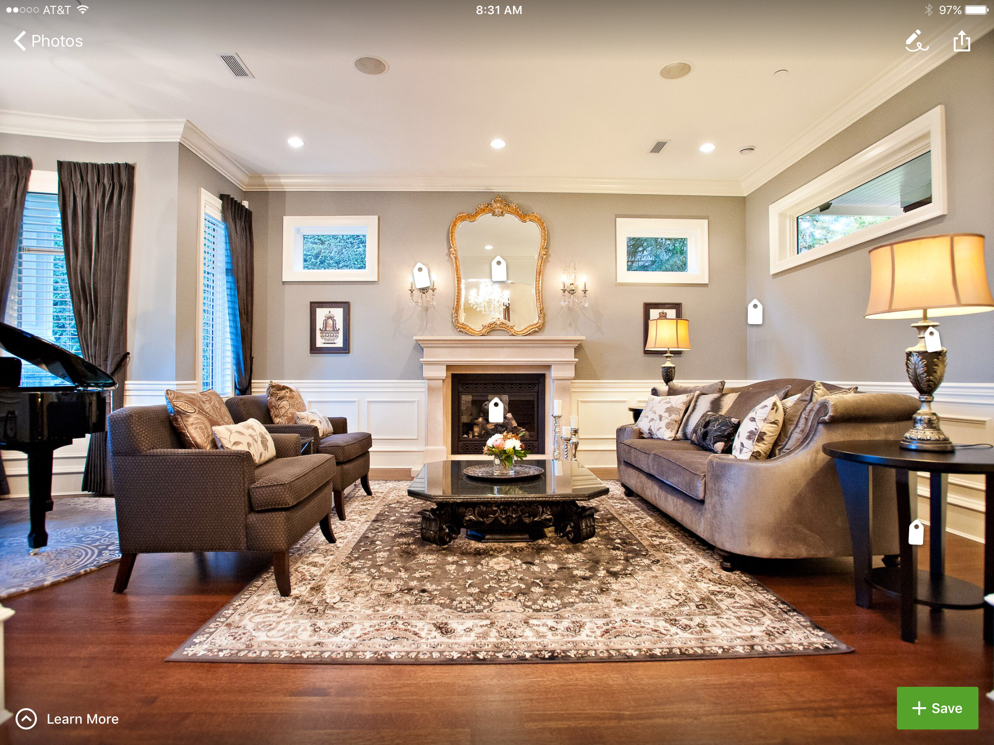 Bm Revere Pewter From Houzz With Brown Furniture