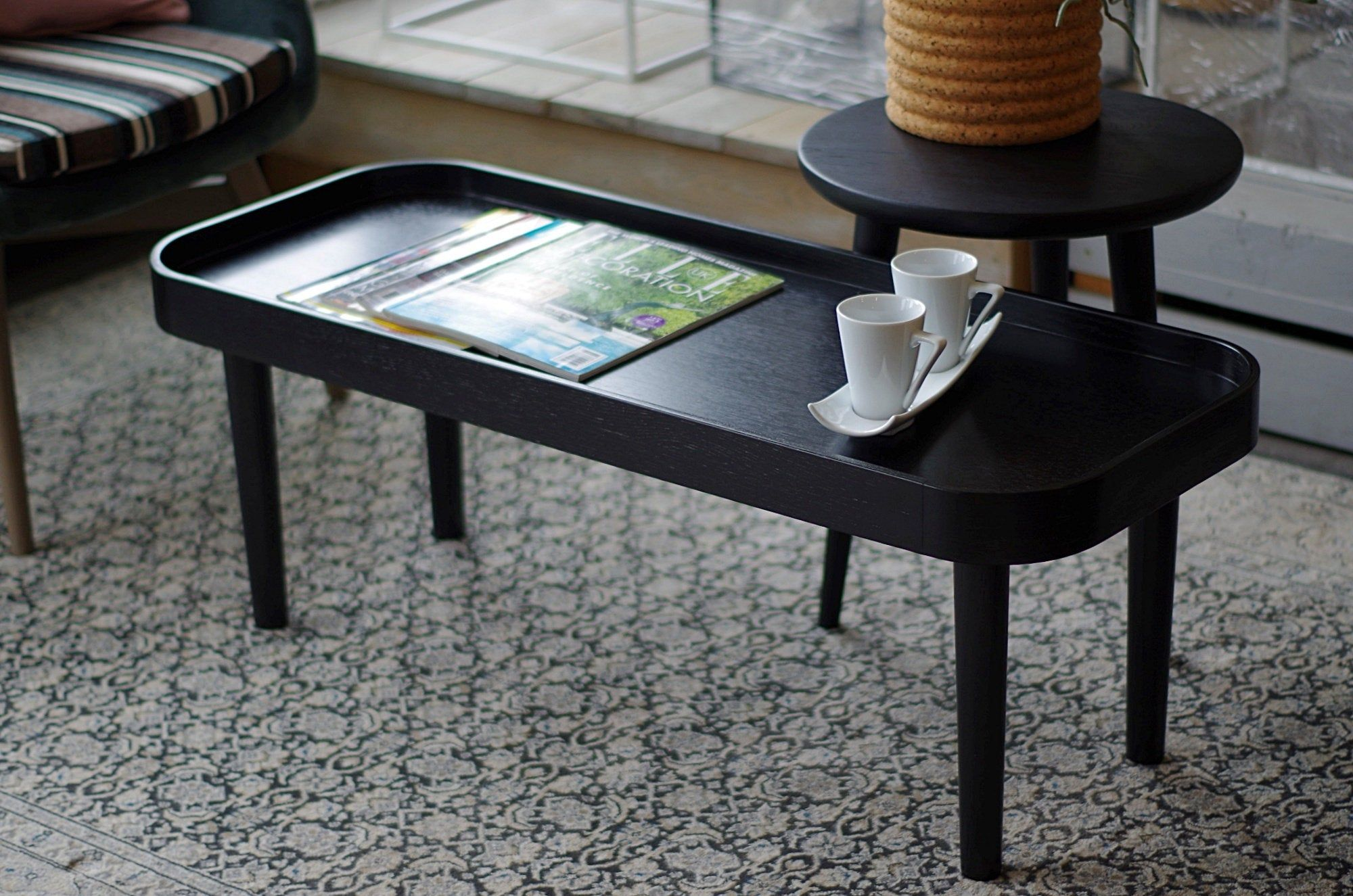 Ready To Ship Black Small Coffee Table Table Transformer Oak