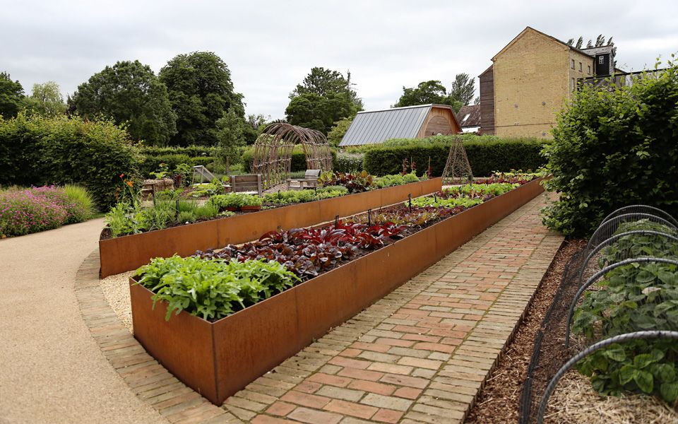 Raised vegetable beds at jordans mill landscaping and for Raised border edging