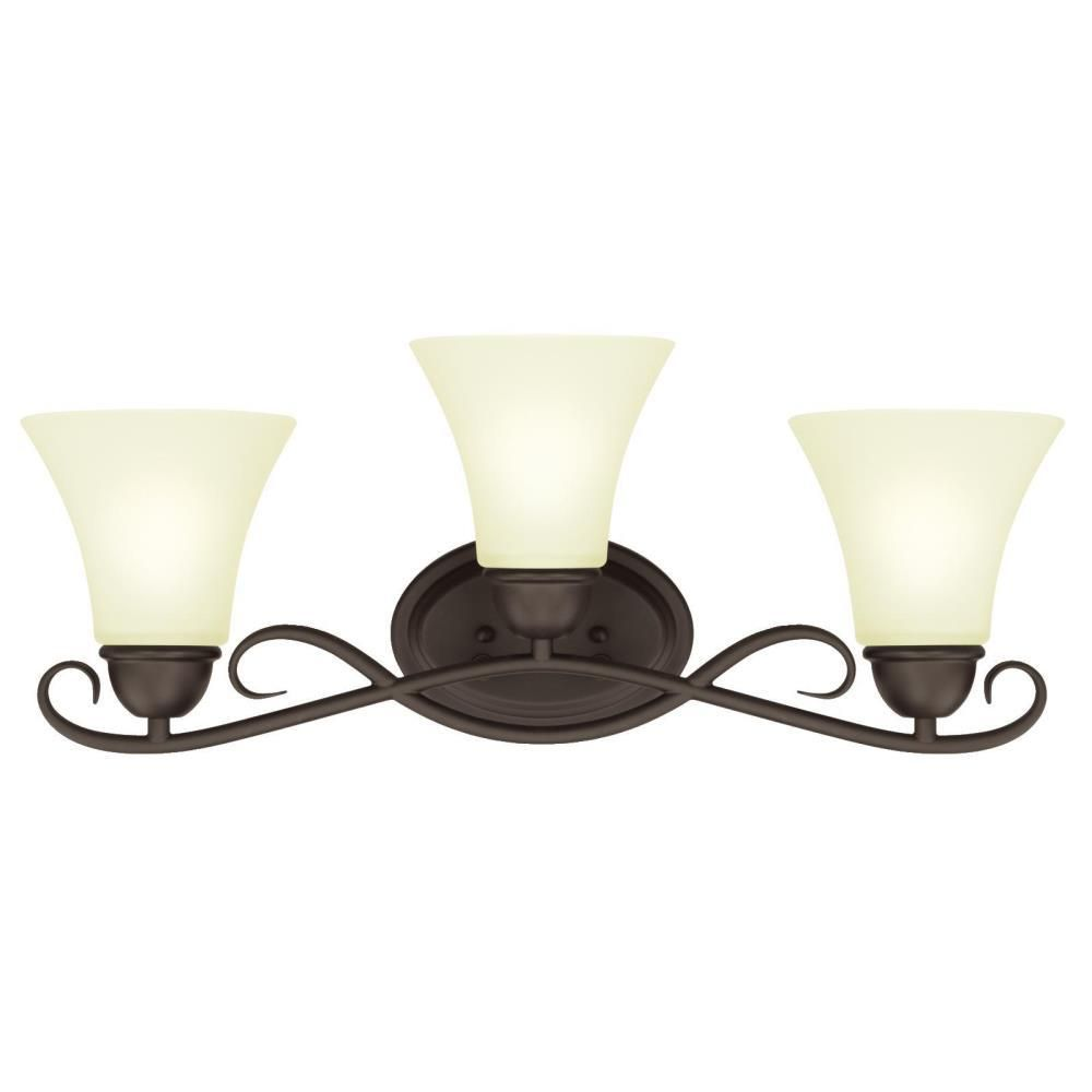 Westinghouse Dunmore 3 Light Oil Rubbed Bronze Wall Mount Bath