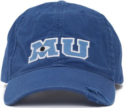 A Baseball Cap To Show Off Your Love For The Mighty Monsters University 46 Magical Stocking Stuffers Every Disn Monster University Disney Hats Baseball Hats