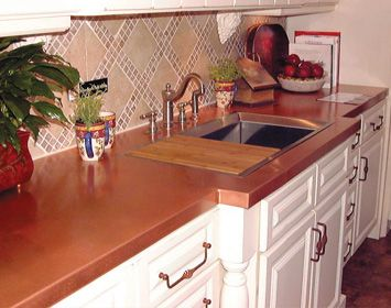 Copper Instead Of Marble Countertops Copper Is Anti Bacterial E Coli Only