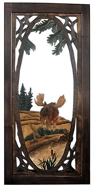 Rustic Carved Screen Door - Moose by jannyshere | Camping ...