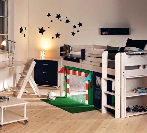 Flexa Room Soccer Futbol Kinderhochbett, Kinderzimmer