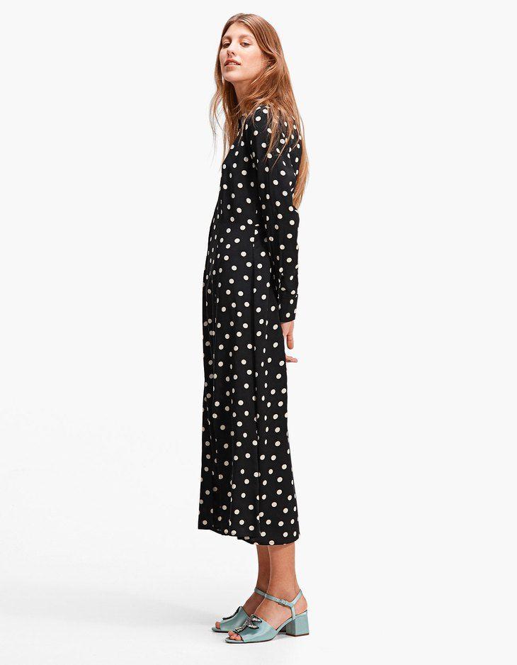 0ed3b9a503f At Stradivarius you ll find 1 Long polka dot shirt dress for just 35.99  United