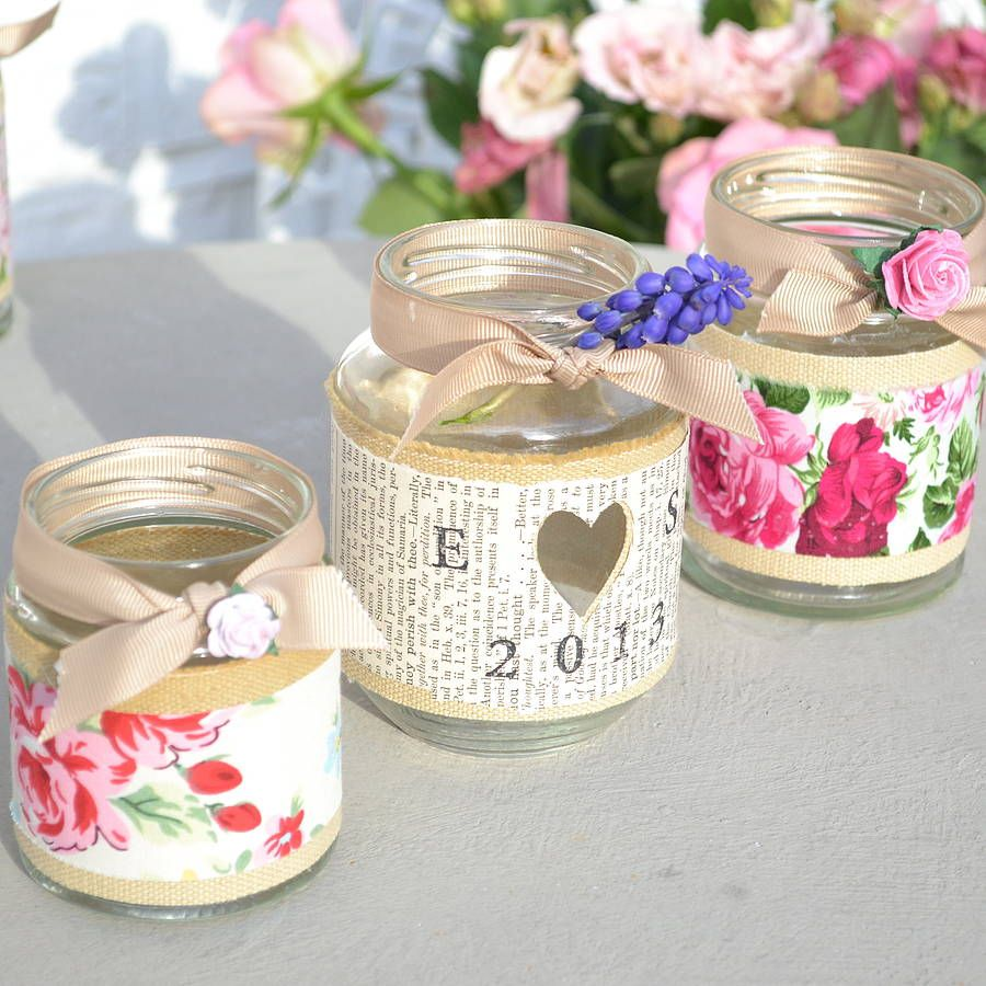 Rose Jam Jar Candle Holder | Pinterest | Jam jar candles, Jar candle ...