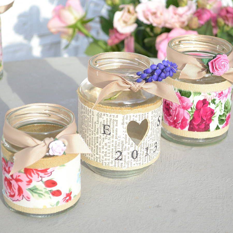 Craft Ideas Empty Jam Jars: Rose Jam Jar Candle Holder