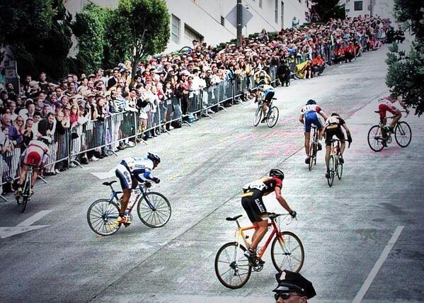 Climbing At The San Francisco Grand Prix Cycling Photography