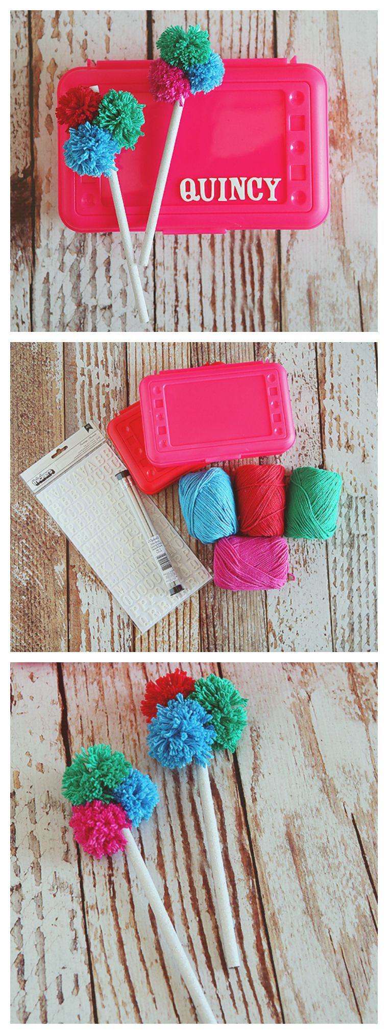 PomPom Pencils Back to school crafts, Crafts, Diy