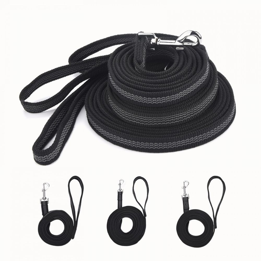 Anti Skid Dog Leash Rubber And Nylon Medium Large Pet Chain Rope Wire Harness Training Hand Held For Walking Strap Unbranded
