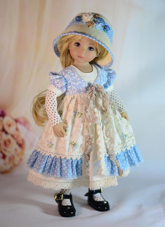 "Little Darling Doll Dress Pattern for 13/"" Dianna Effner My Meadow Avery Paola"