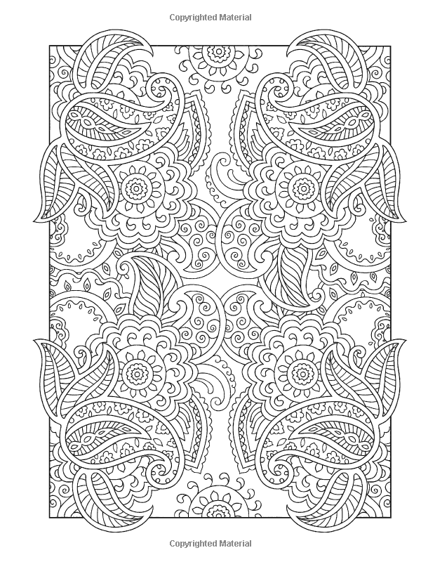 Creative Haven Mehndi Designs Coloring Book: Traditional Henna Body ...