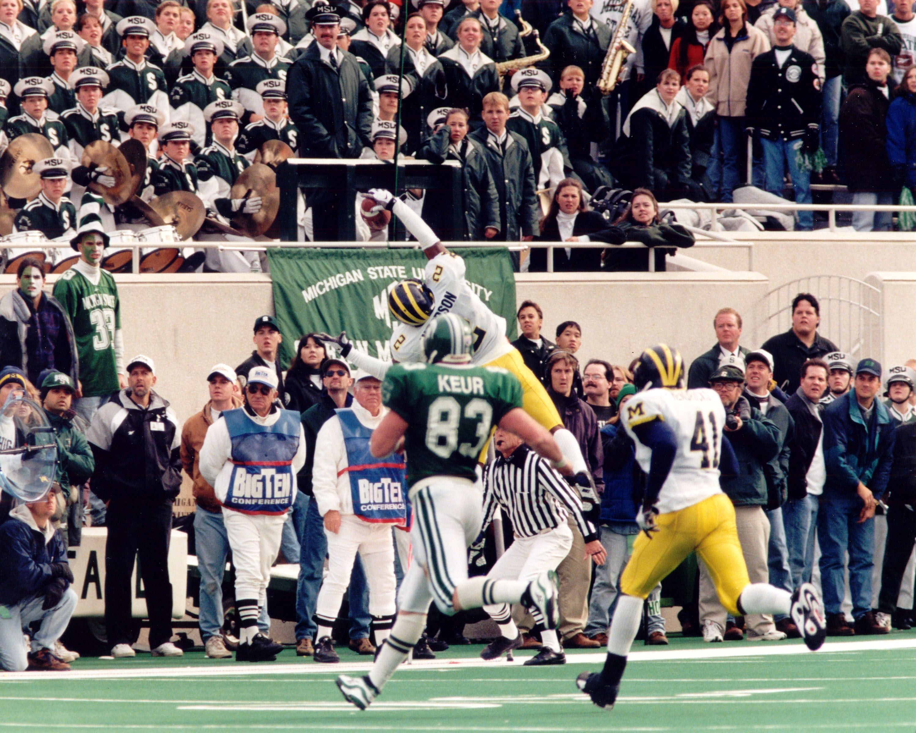 88d88d4c0b58 This interception was one of the signature plays that propelled Charles  Woodson to the Heisman.