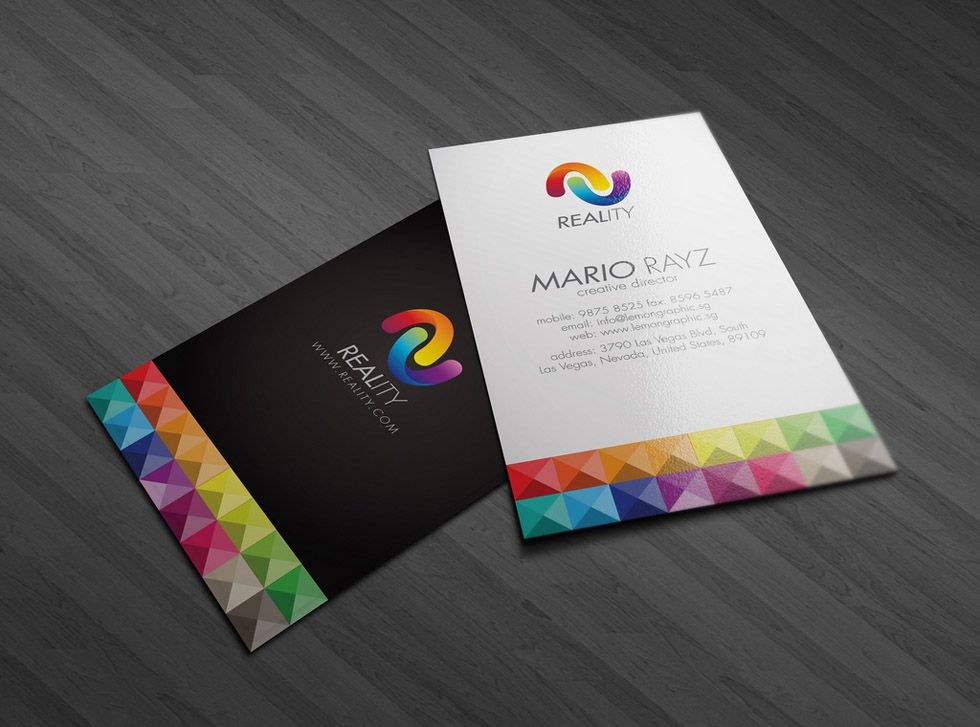 8-colorful-business-card-design | business card | Pinterest ...