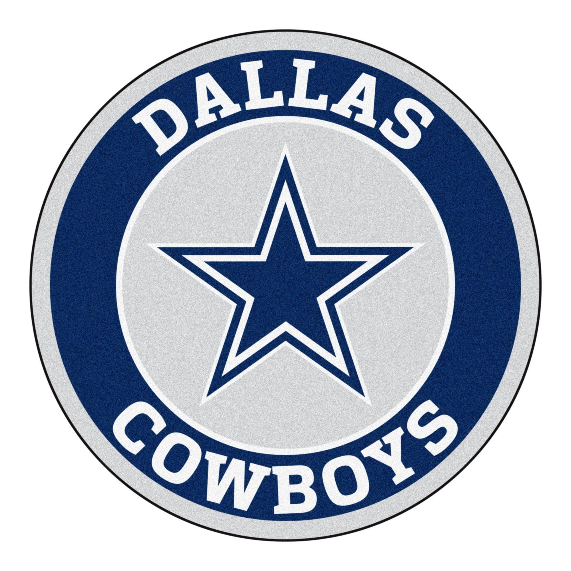 Roundel Mat Dallas Cowboys Dallas cowboys logo, Dallas