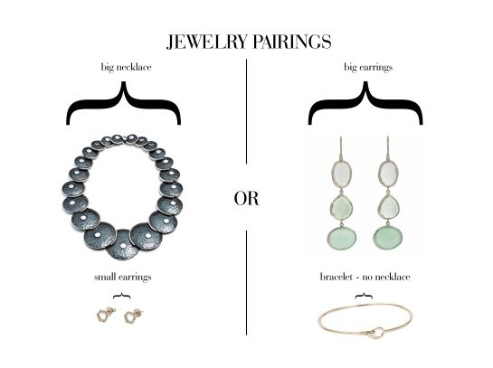 Jewelry Styling: How to wear a statement necklace or earrings with other jewelry #styling #jewelry