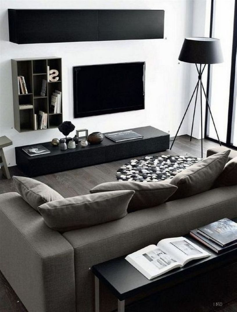 8 Minimalist Living Rooms With Masculine Feel For Small Space Talkdecor Living Room Decor Apartment Modern Apartment Living Room Living Room Design Small Spaces