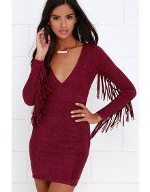 Wild Suede Fringe Dress