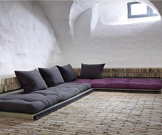 ... Multifunktionales Sofa Chico, Grau/lila, B 200 Cm Wohnen   Wohnzimmer  Grau Violett ...
