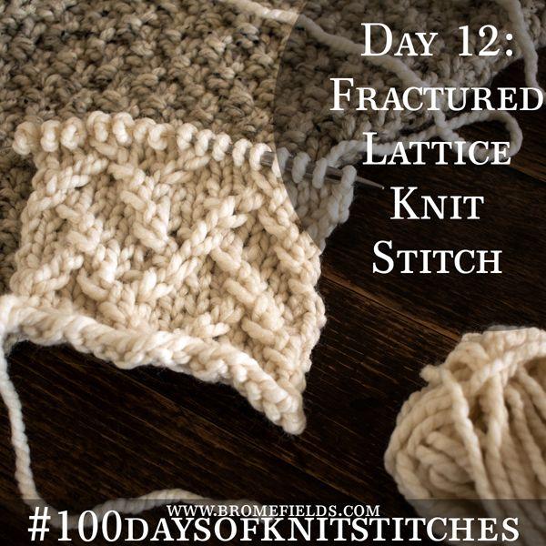 Day 4 : Diagonal Lace Stitch : #100daysofknitstitches   Videos ...