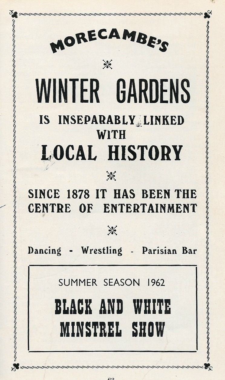 morecambe winter gardens summer season 1962 blue collar
