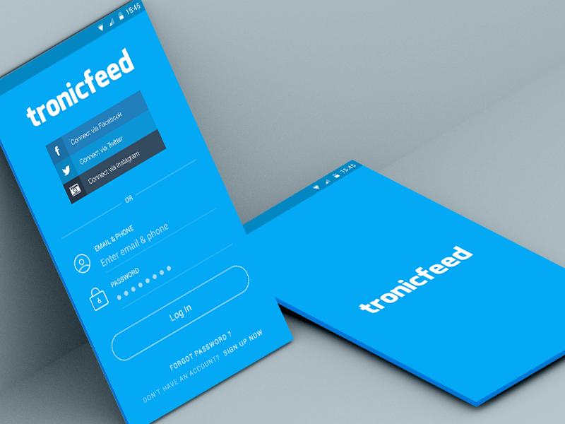 Tronicfeed Login Screen Create Business Cards Cheap Business