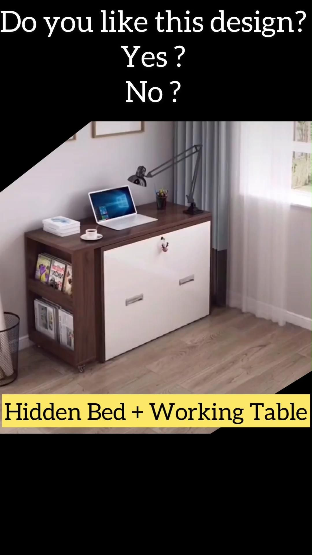 work station with hidden bed