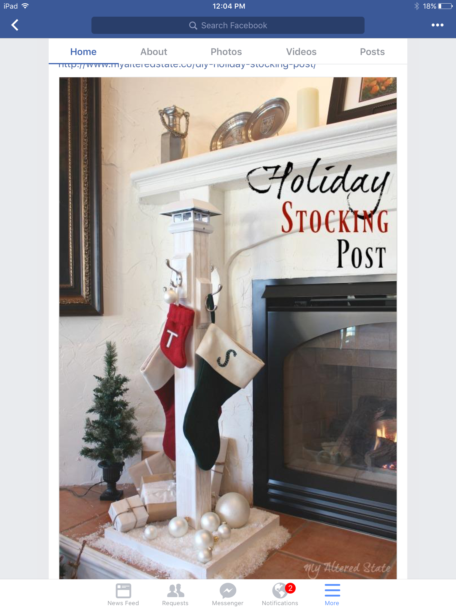 Cute holiday stocking post by My Altered State Christmas