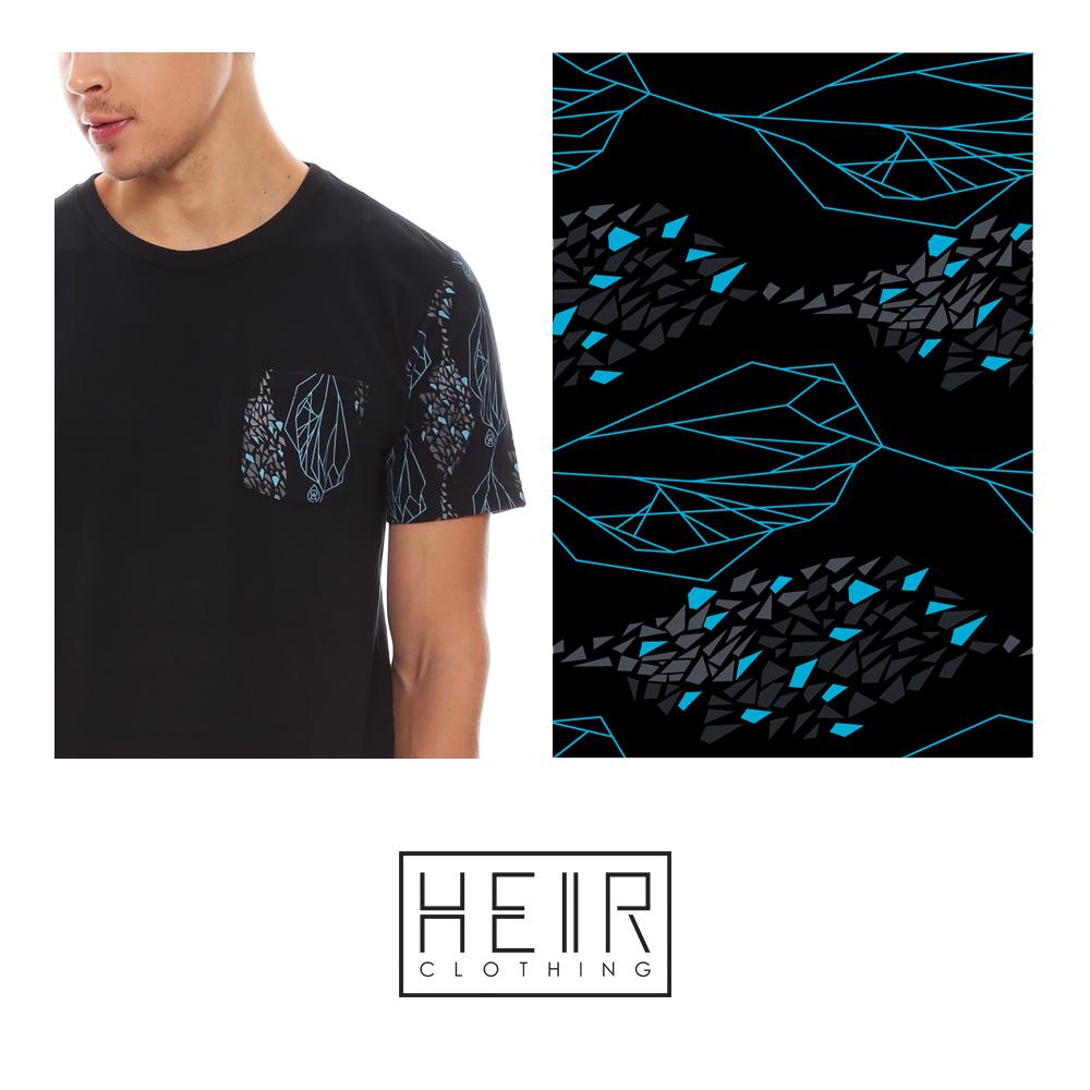 Estampa Fragment desenvolvida para a marca Heir. Encontre em www.heir.com.br