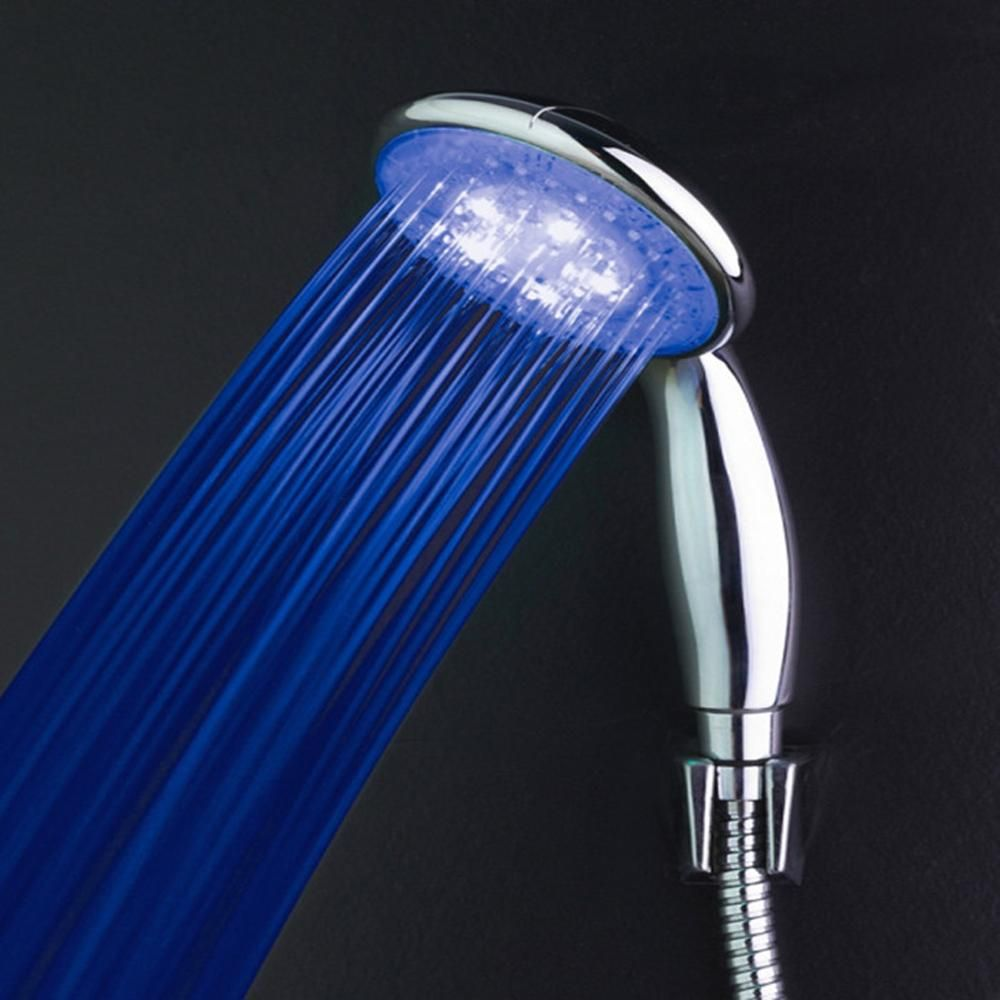 High Tech Bath Shower Head ABS Bathroom Accessories Temperature Control  Shower Nozzle Color Changing LED