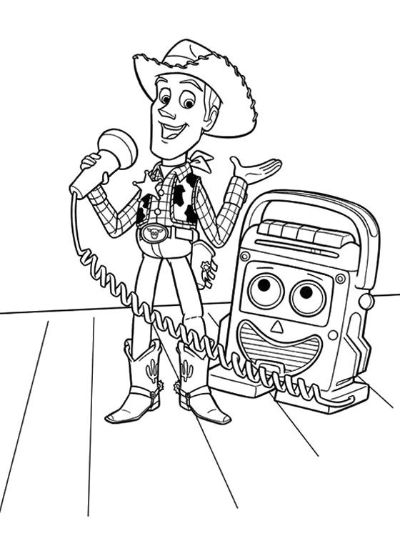 Toy Story Coloring Book - Toy Story cartoon coloring pages ...