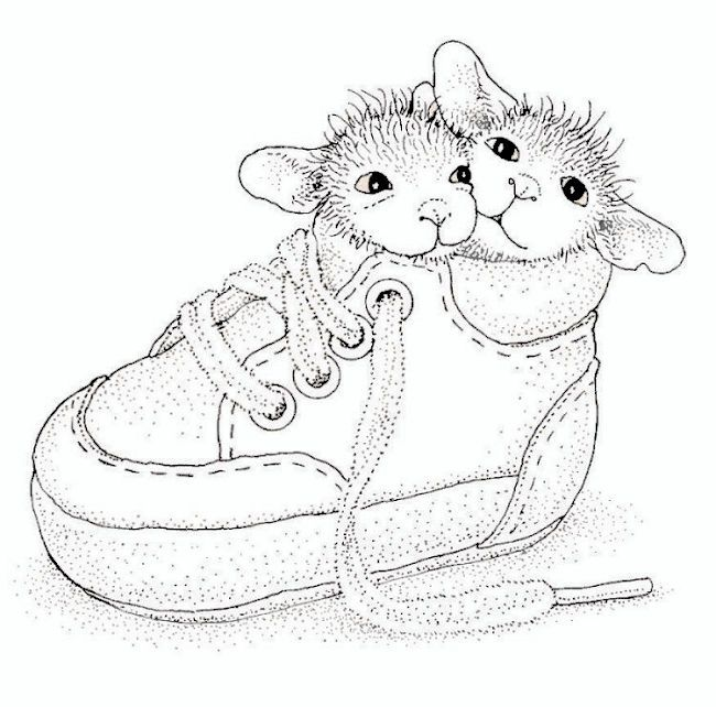 2 Mice In A Baby Shoe So Cute House Mouse Stamps House