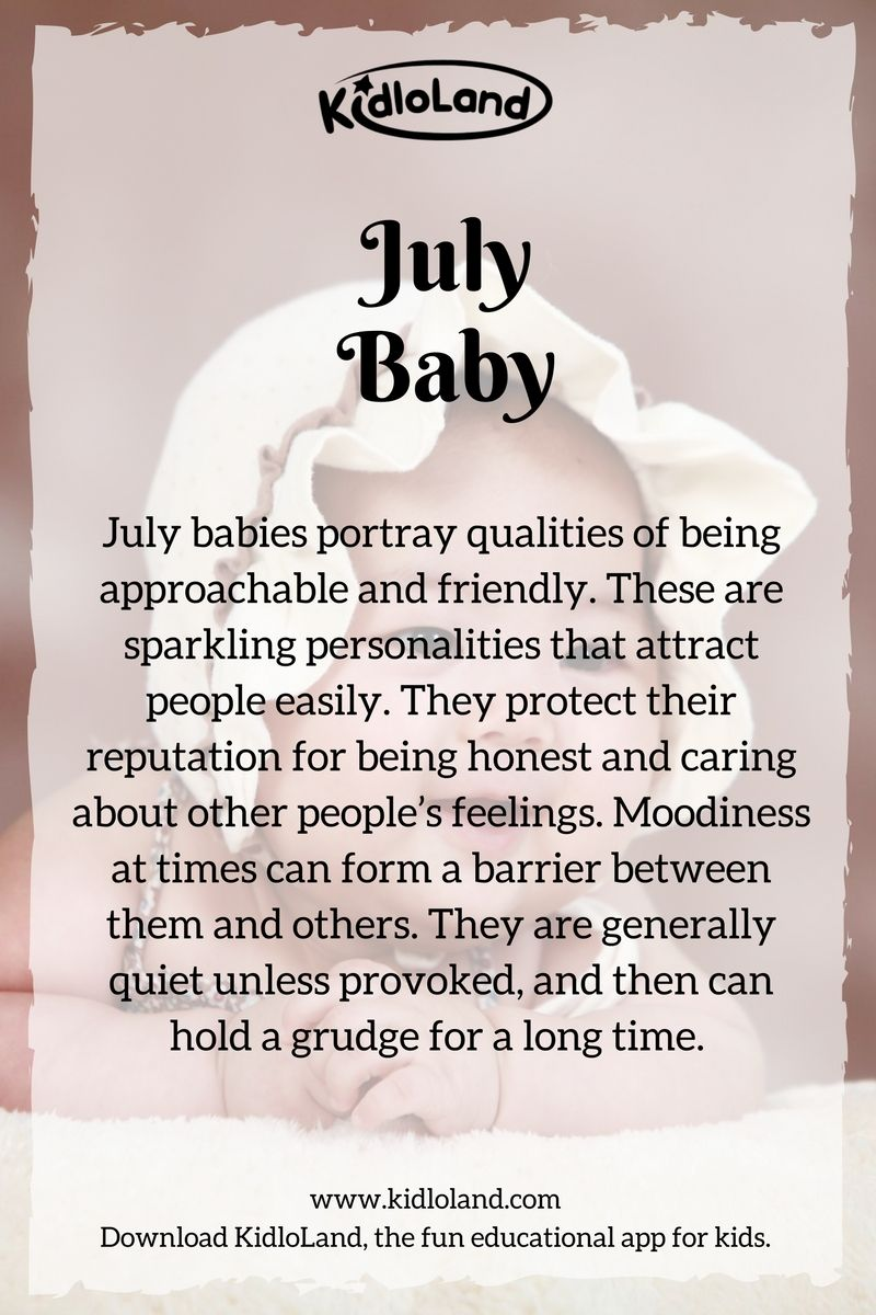 Secret Of A July Baby Kidloland Reveals Amazing Personalities And