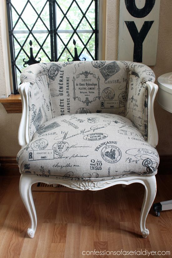 Upholstery  French Provincial Chairs Makeover With Paint And Reupholstery