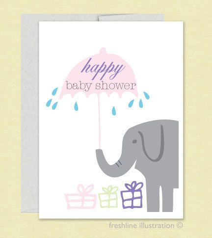 baby shower card happy baby shower greeting card and by freshline 400