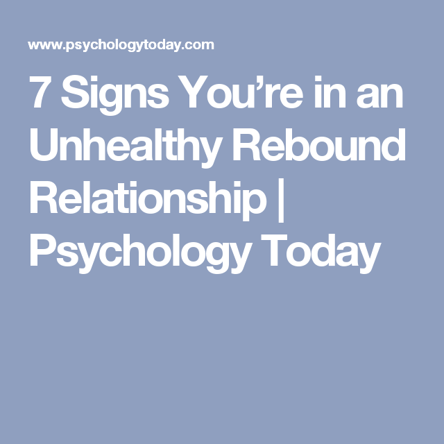 Rebound relationships success