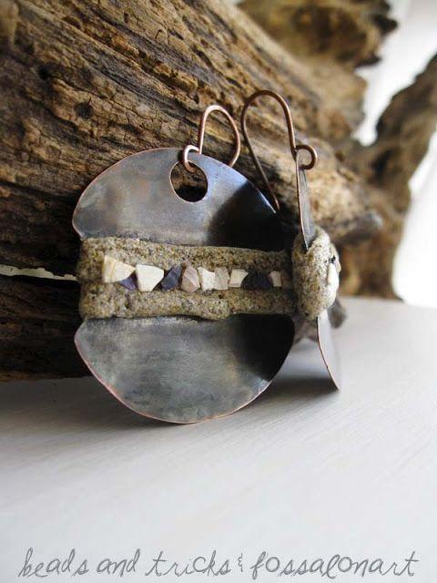 Orecchini con sabbia e frammenti | Handmade by Beads and Tricks