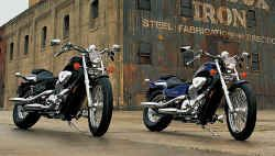 Two Honda Shadow 's VT 600c