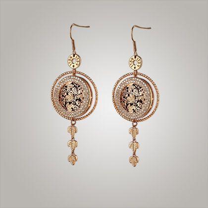 Guinness Rose Goldplated Earrings - from Newbridge Silverware online store Ireland