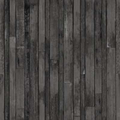 Esta Home Azelma Charcoal Wood Paper Strippable Wallpaper Covers 56 4 Sq Ft Dd138815 The Home Depot Wood Wallpaper Charcoal Wallpaper Cover Wood Paneling