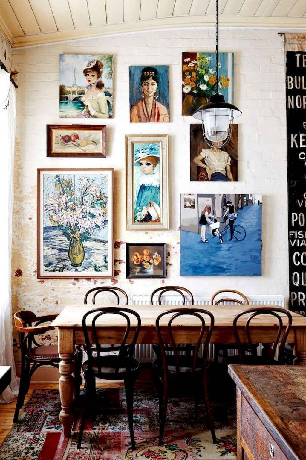 60 Amazing Eclectic Style Living Room Design Ideas 41 Eclectic Dining Room Vintage Interior Decor Vintage Dining Room #vintage #eclectic #living #room