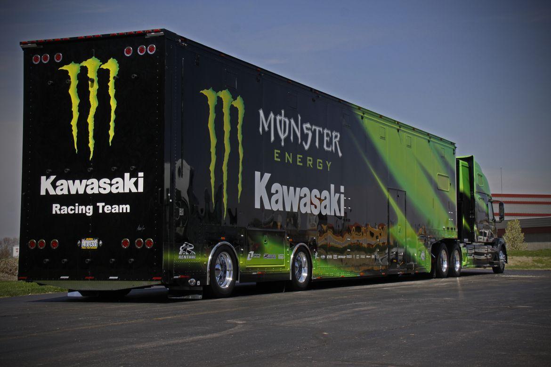 pinterest photos of semi trucks with kawasaki logo