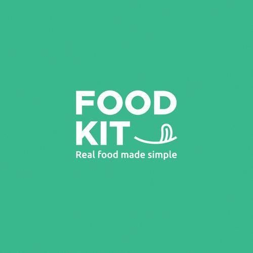 Food Logo FoodKit  Logo identity for healthy food delivery service Logo