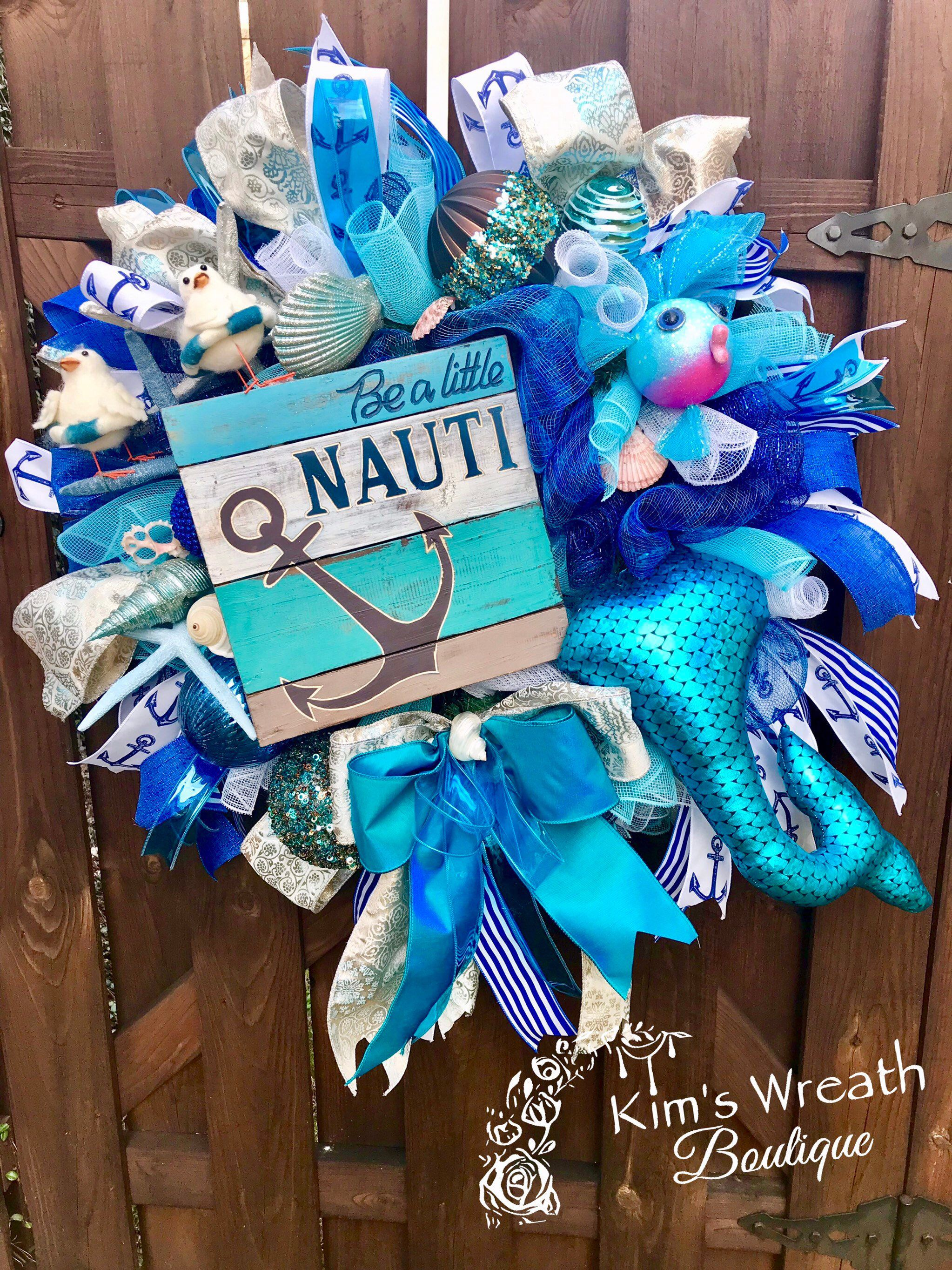 Nautical Wreath Nautical Swag Nautical Decor Beach Wreath
