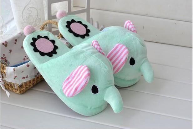 Aliexpress Com Comprar Kawaii Novedad Home Room Elefante De Felpa De Dibujos Animados Animal Relleno Za Pantuflas De Peluche Lindo Elefante Zapatillas Bonitas