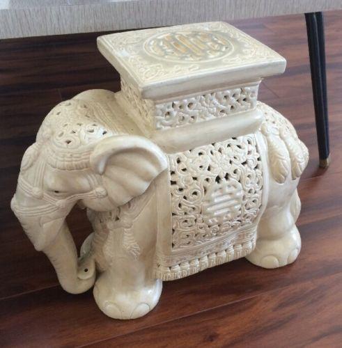 Vintage-Asian-Garden-Stool-Planter-Elephant-Seat-Stand