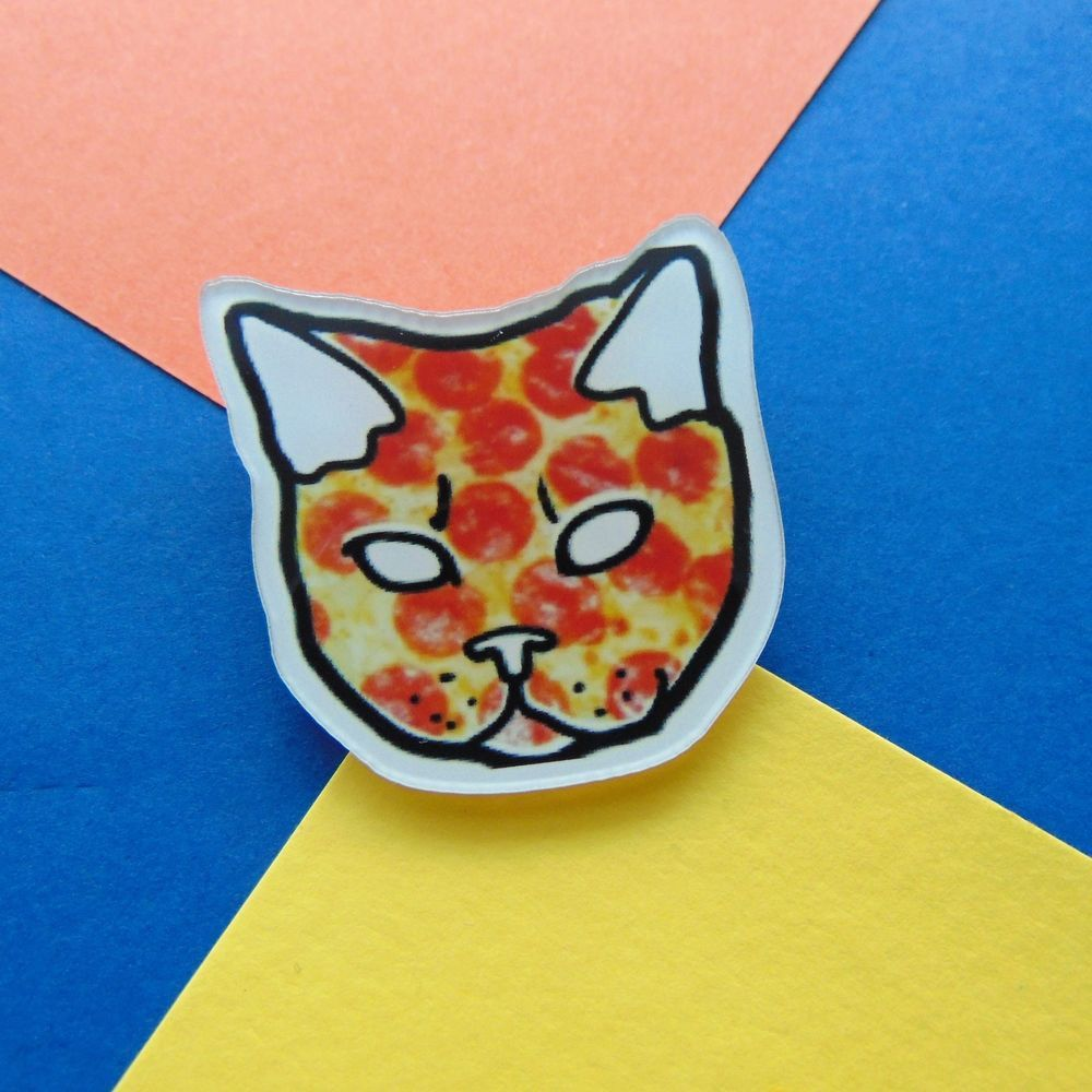 1pc Cheap Cute Little Cat With Sungalsses Brooch Button Pins Denim Jacket Pin Badge Badge Collar Jewelry Gift For Kids Up-To-Date Styling Apparel Sewing & Fabric Arts,crafts & Sewing