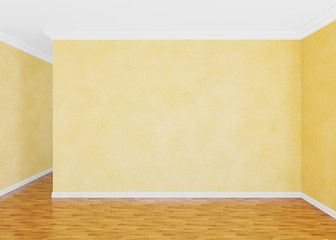 Modern empty  room with Venetian stucco wall